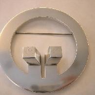Brosche Design Silber 925