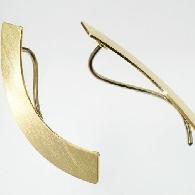 Goldene Ohrclips