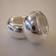 Creolen Silber poliert