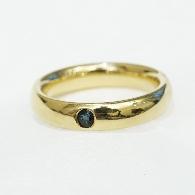 Ring aus Gelbgold 750 pol..