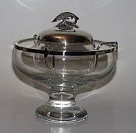 Kaviarschale aus Glas